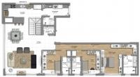 Cobertura 3 suites - Pavimento inferior