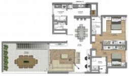 Cobertura 2 suites - Pavimento inferior