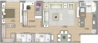 90m² - 2 dormitórios