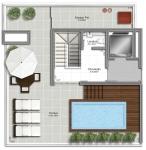 Coberturas 3 suites - Pavimento superior