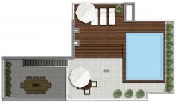Cobertura 2 suites - Pavimento superior