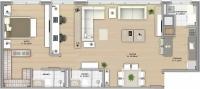 90m² - 1 dormitório